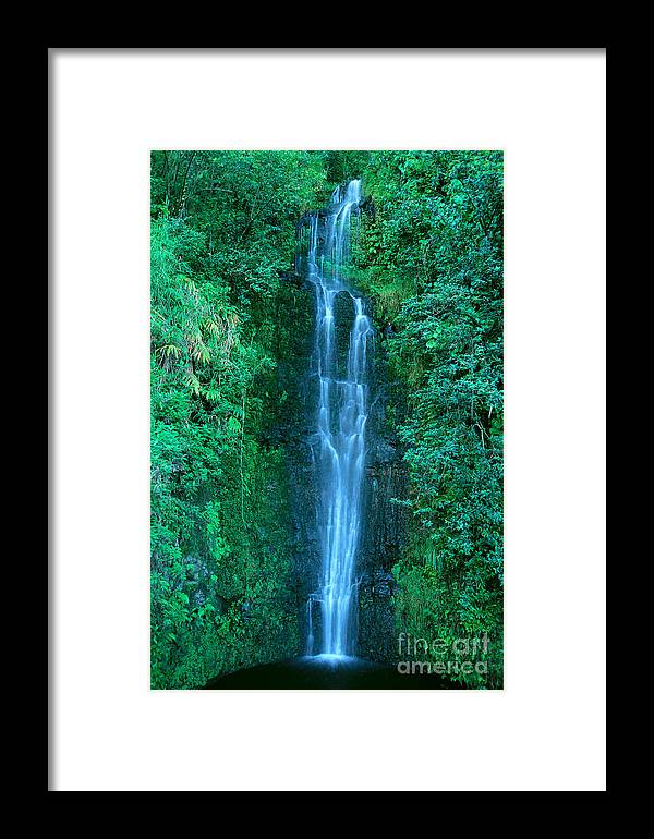Active Framed Print featuring the photograph Waterfall Close-up by Bill Brennan - Printscapes