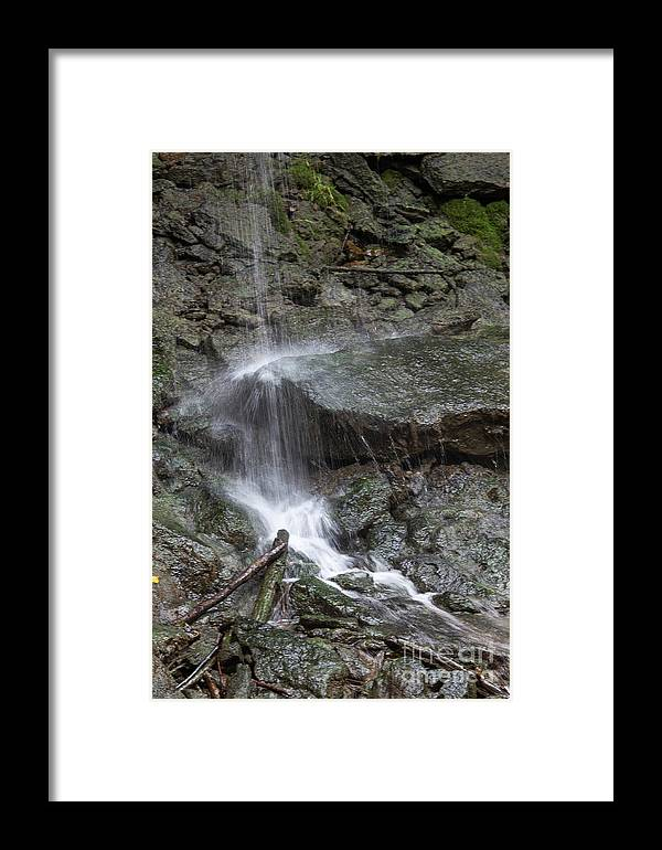 Waterfall Framed Print featuring the photograph Waterfall Stream by Wesley Farnsworth