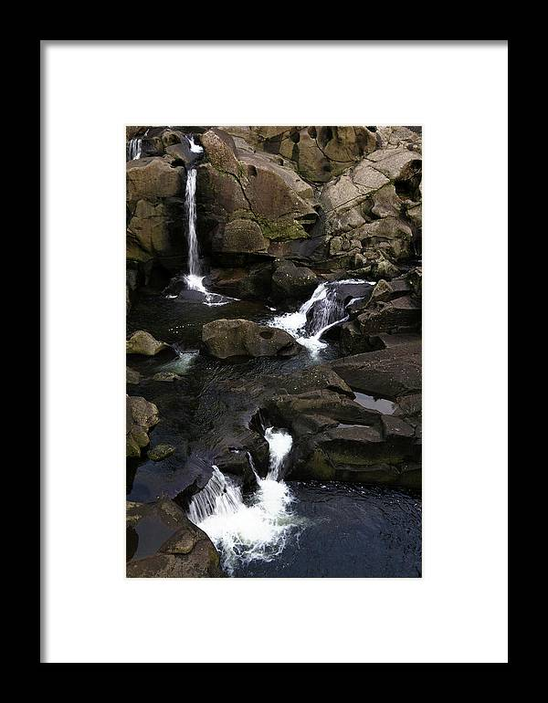 Beautiful Framed Print featuring the photograph Waterfalls by Les Cunliffe