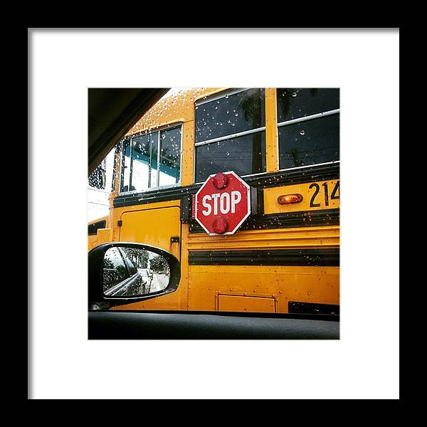 School Framed Print featuring the photograph Way To School #juansilvaphotos by Juan Silva