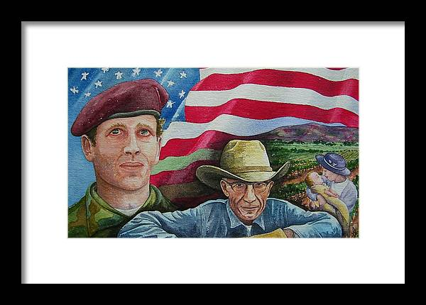 Soldier Framed Print featuring the painting We Hold These Truths by Gale Cochran-Smith