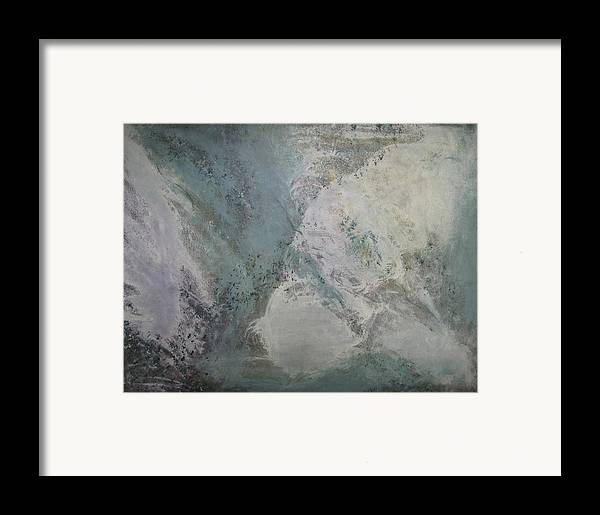 Abstract Framed Print featuring the painting Whirlwind by Sheryl Sutherland