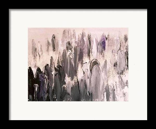 Grays Framed Print featuring the painting Who Are We by Bruce Combs - REACH BEYOND