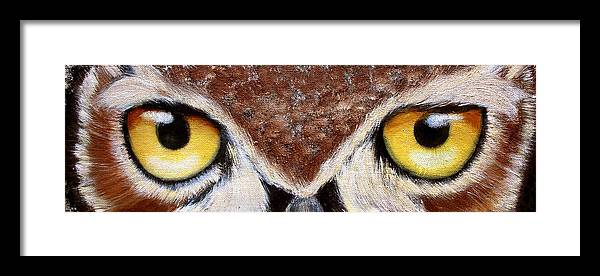 Owl Framed Print featuring the painting Whos Watching Who by Darlene Green
