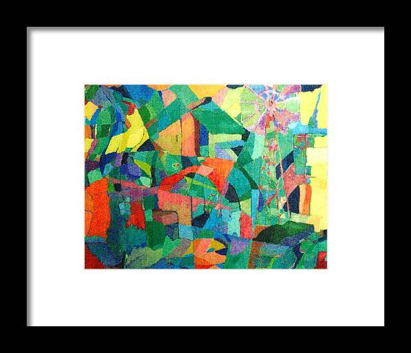 Abstract Framed Print featuring the painting Windmills Of The Mind by Bernard Goodman