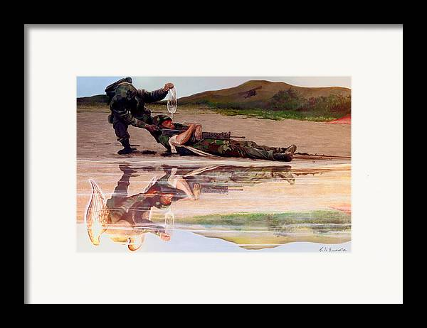 Military Art Framed Print featuring the photograph Wings Of Hope by Todd Krasovetz