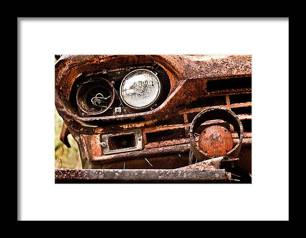 Color Photography Framed Print featuring the photograph Winkin Ford by Wayne Denmark