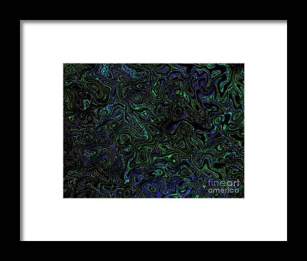 Abstract Framed Print featuring the mixed media Ocean by Owl's View Studio