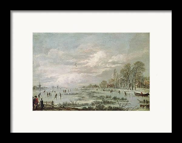 Winter Framed Print featuring the painting Winter Landscape by Aert van der Neer