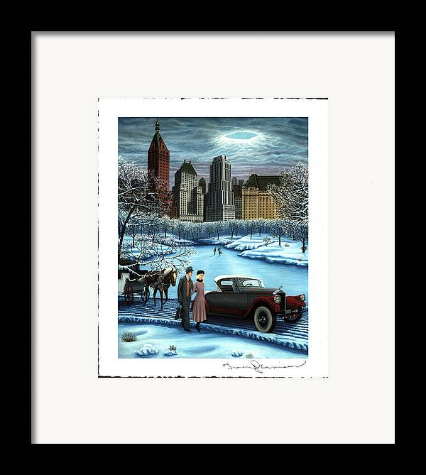 Plaza Hotel Framed Print featuring the painting Winter Wonderland by Tracy Dennison