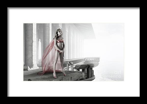 Woman Framed Print featuring the photograph Woman Warrior by Maxim Images Prints