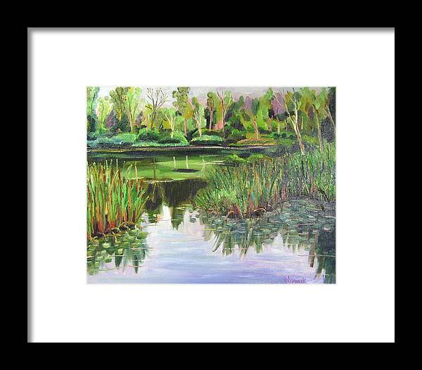 Wooldland Framed Print featuring the painting Woodland Reflections by Richard Nowak