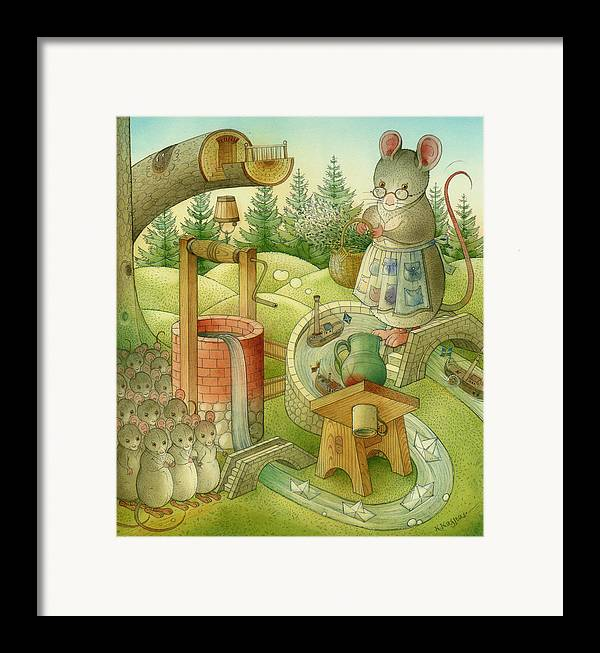 Landscape Framed Print featuring the painting Wrong World by Kestutis Kasparavicius