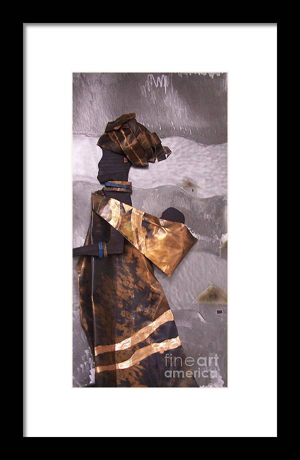 Metal Framed Print featuring the mixed media Xhosa Woman by Jeff Williams
