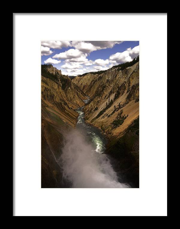 Yellowstone Framed Print featuring the photograph Yellowstone Grand Canyon by Patrick Flynn