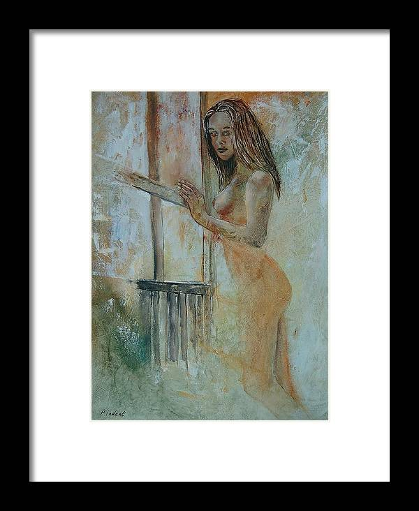 Gir Framed Print featuring the painting Young Girl 57905062 by Pol Ledent