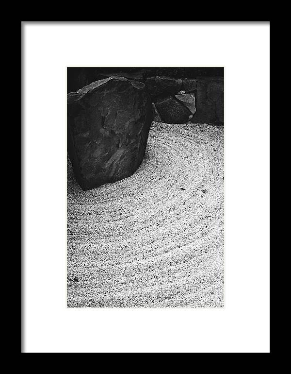 Framed Print featuring the photograph Zen Circle by Jamie Lynn