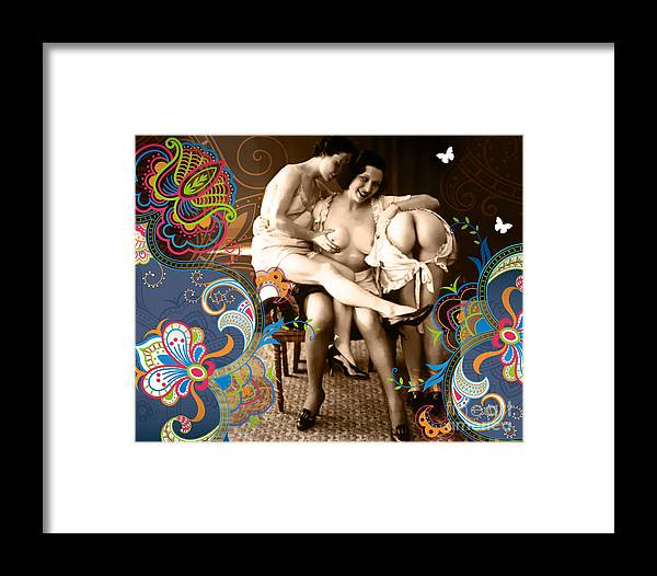 Nostalgic Seduction Framed Print featuring the photograph Goddesses by Chris Andruskiewicz