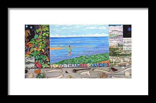 Cape Cod Framed Print featuring the painting I Sell Prints by Susan Stewart