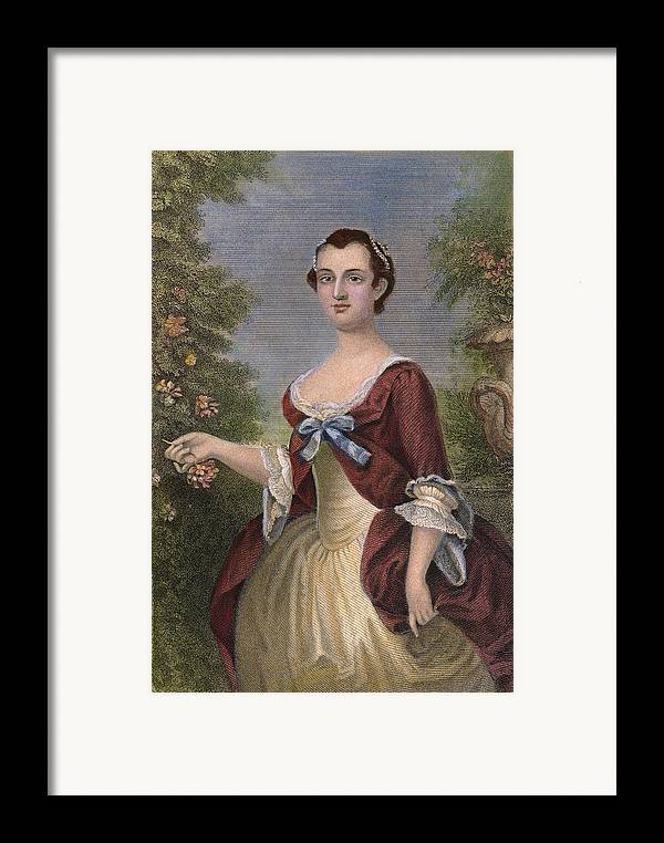 1757 Framed Print featuring the photograph Martha Washington by Granger