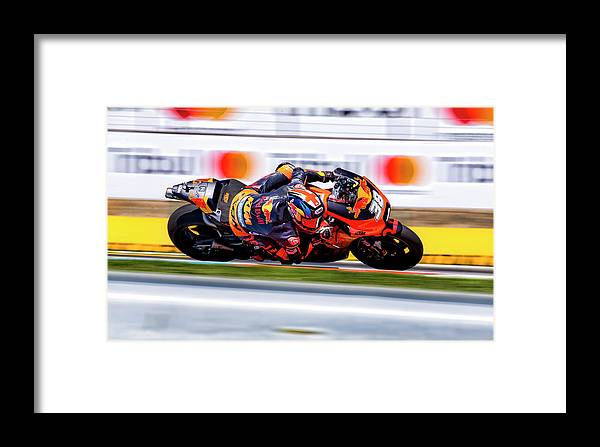 Andrea Dovizioso Framed Print featuring the photograph Motogp by Srdjan Petrovic