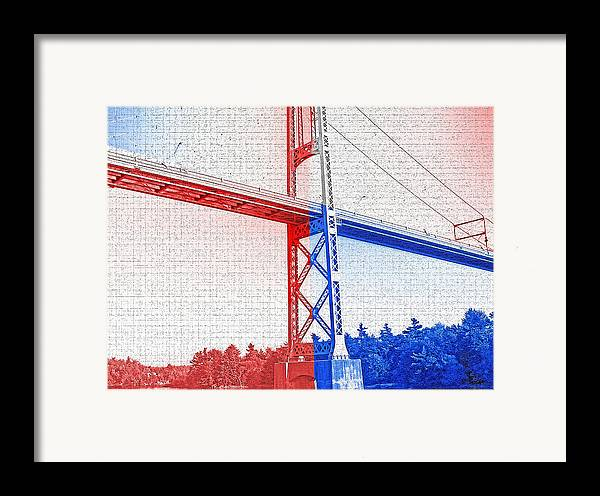 Bridges Framed Print featuring the photograph 1000 Island International Bridge 2 by Steve Ohlsen