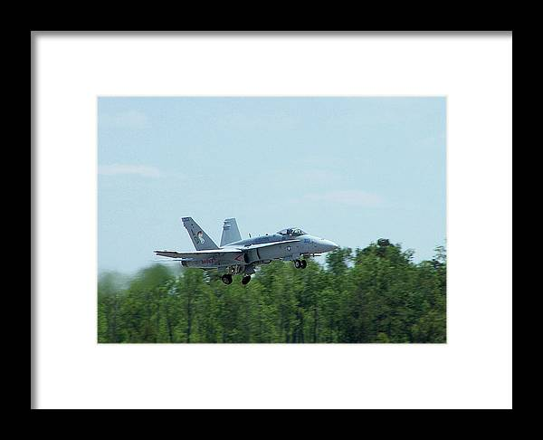 F-18 Fighting Falcon Framed Print featuring the photograph 100_3413 F-18 Hornet by Stephen Ham