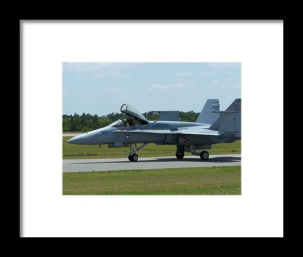 F-18 Hornet Framed Print featuring the photograph 100_3448 F-18 Hornet by Stephen Ham