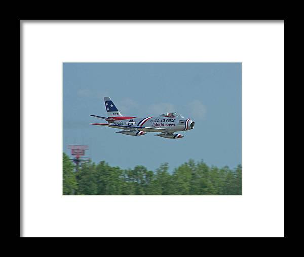F-86 Framed Print featuring the photograph 100_4272 F-86 Sabre Fighter Jet by Stephen Ham
