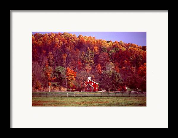 Autumn Framed Print featuring the photograph 102701-16 by Mike Davis