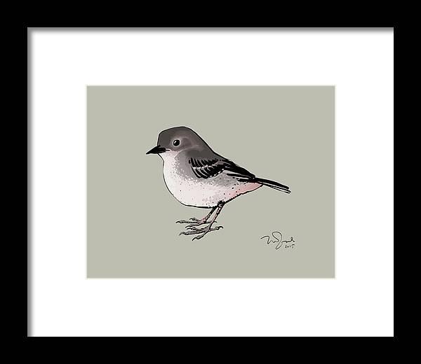 Animal Framed Print featuring the digital art Bird by Penko Gelev