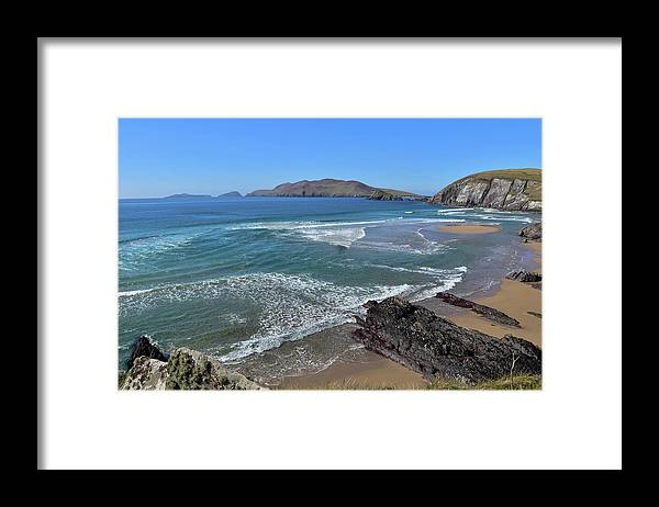 Coumeenole Framed Print featuring the photograph Coumeenole Beach by Barbara Walsh