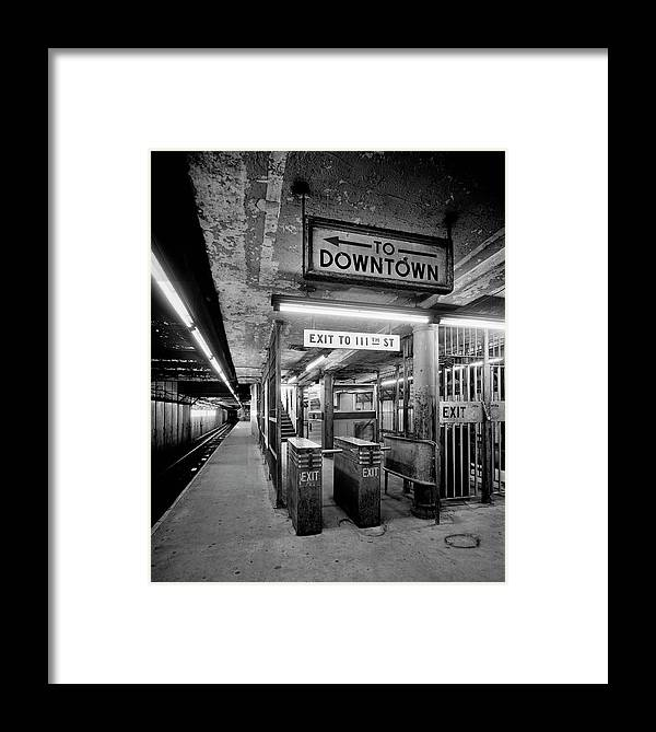 Irt Framed Print featuring the photograph 110th Street And Lenox Avenue Station - New York City by Daniel Hagerman