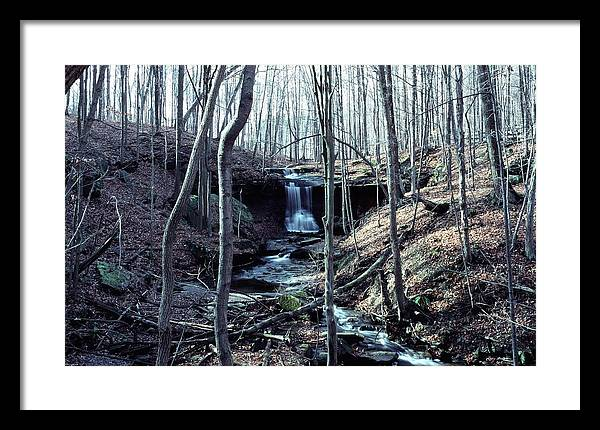 Waterfall Framed Print featuring the photograph 111990-2 by Mike Davis