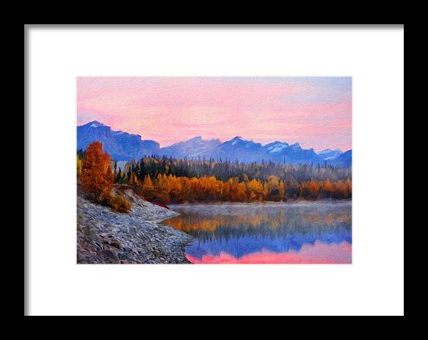 Landscape Framed Print featuring the painting Nature Art Original Landscape Paintings by World Map
