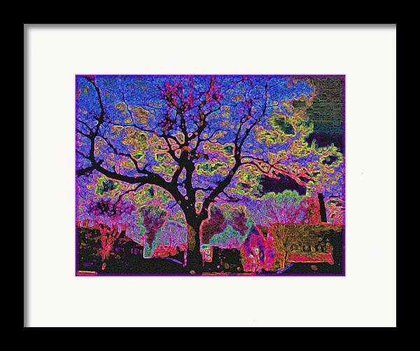 Landscape Framed Print featuring the painting 113z Gothic Blue by Ed Immar