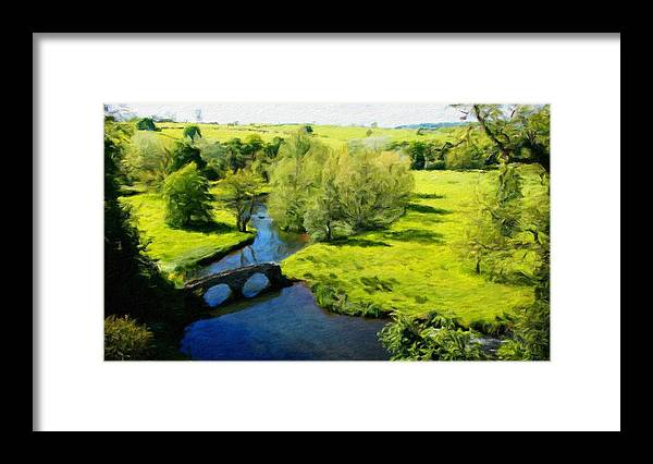 Landscape Framed Print featuring the painting Landscape Definition Nature by World Map