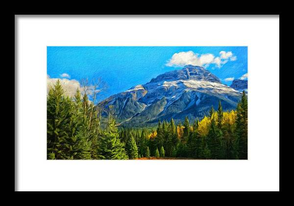Landscape Framed Print featuring the painting Nature Landscapes Prints by World Map