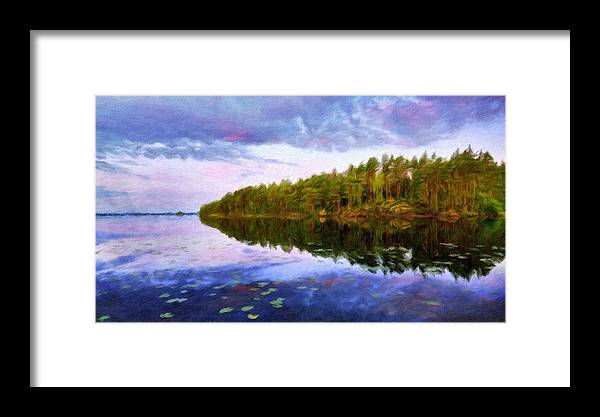 Landscape Framed Print featuring the painting Nature Landscape Artwork by World Map