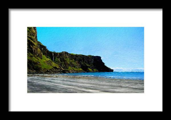 Landscape Framed Print featuring the painting Nature New Landscape by World Map