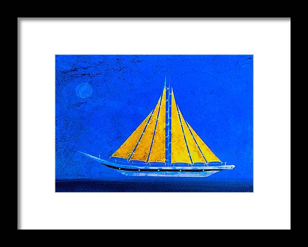 Sailing Framed Print featuring the painting Setting Sail by Barry Knauff