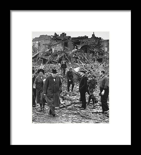 1940 Framed Print featuring the photograph Winston Churchill by Granger