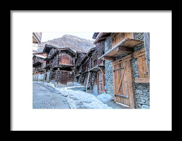 Hinterdorf Framed Print featuring the photograph Zermatt - Switzerland by Joana Kruse