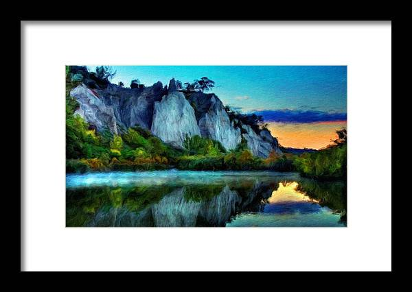 Landscape Framed Print featuring the painting Painting Landscape by World Map
