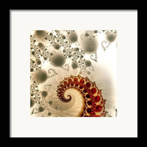Odon Framed Print featuring the painting Fractal by Odon Czintos