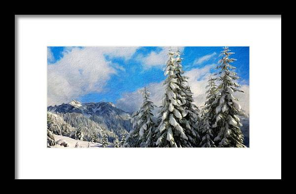 Landscape Framed Print featuring the painting Landscape Paintings Canvas Prints Nature Art by World Map