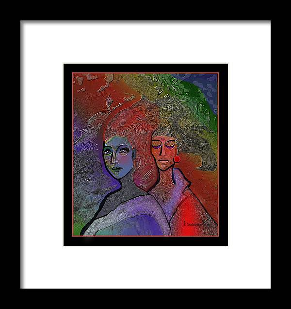 1249 Framed Print featuring the digital art 1249 Great Appearance 2017 by Irmgard Schoendorf Welch