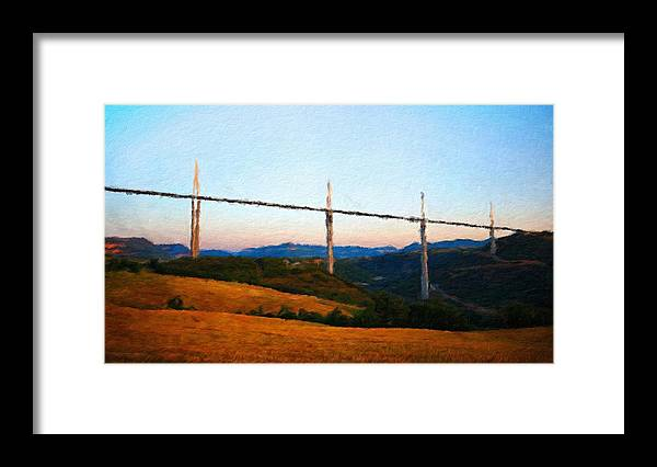 Landscape Framed Print featuring the painting Landscape Paintings Nature by World Map