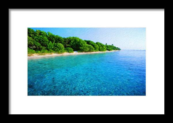 Landscape Framed Print featuring the painting Nature Landscape Nature by World Map