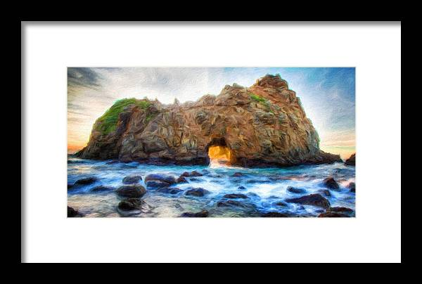 Landscape Framed Print featuring the painting Types Of Landscape Nature by World Map